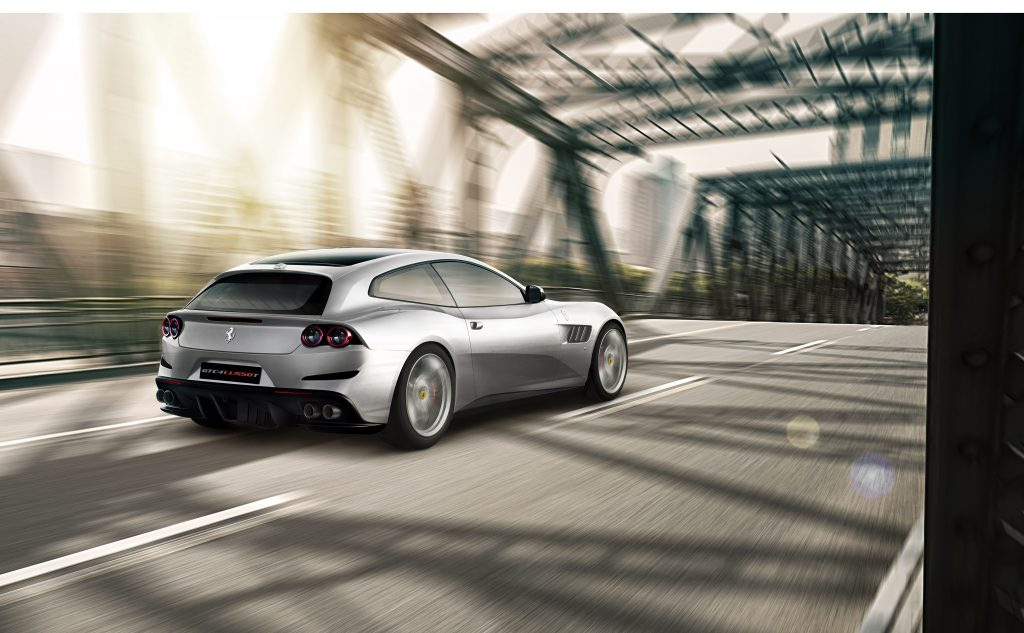 Make you understand more on the new model of Ferrari GTC4Lusso while driving it in Jeddah streets